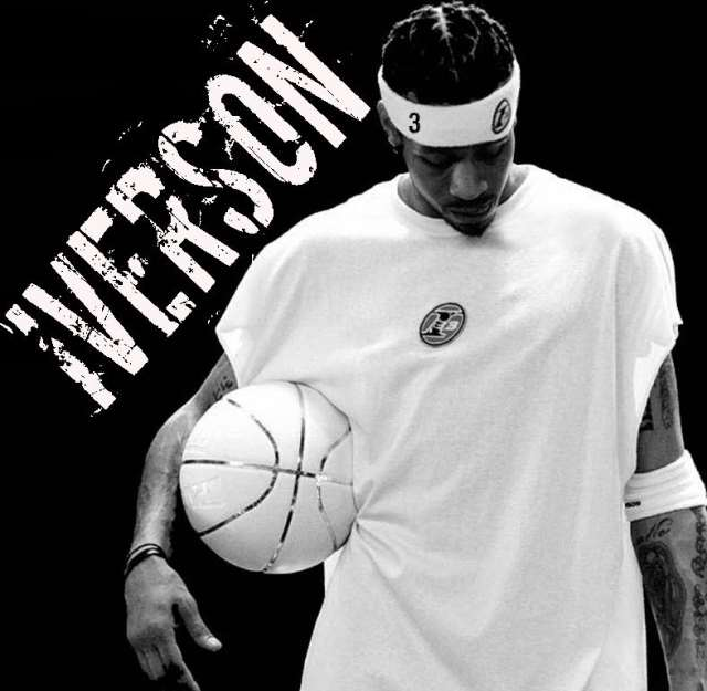 "Allen Iverson ""The Answer"" 6 Ft. 180lbs Hampton, VA Georgetown University 13 Year NBA Vet Claim To Fame : Putting Michael Jordan On Skates As A Rookie"