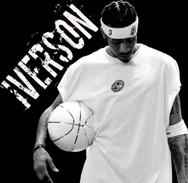 "Allen Iverson ""The Answer"" 6 Ft. 180lbs Hampton, VA Georgetown University 13 Year NBA Vet Claim To Fame : Putting Michael Jordan On Skates As A Rookie"