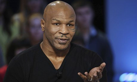 Mike Tyson appears on French television to promote his autobiography Undisputed Truth